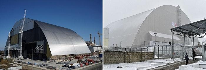 Новое укрытие над Чернобыльской АЭС, грандиозное сооружение