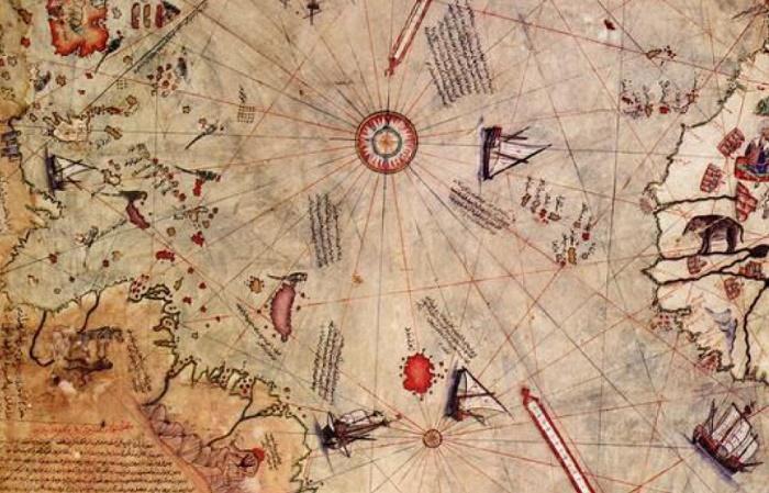 Антарктида на карте Пири Рейса, 16 век