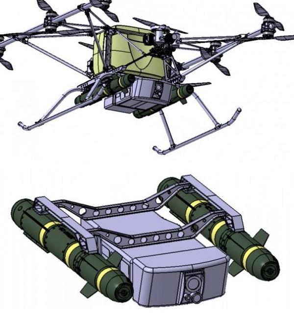 БПЛА Командор с противотанковой ракетной системой