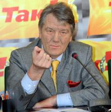 Ющенко на політичних зустрічах