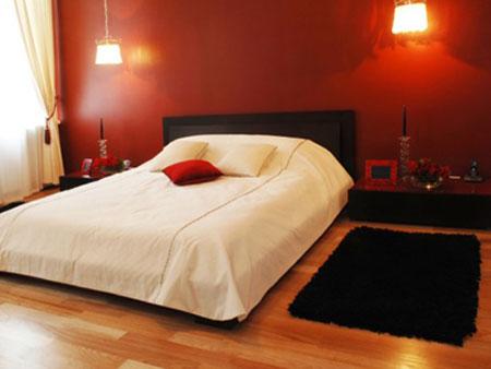 Спальни в красном