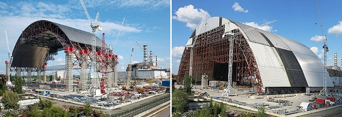 Новое укрытие над Чернобыльской АЭС, этапы строительства
