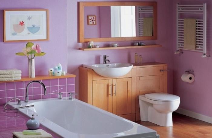 Чем отделать ванную комнату кроме плитки: покраска