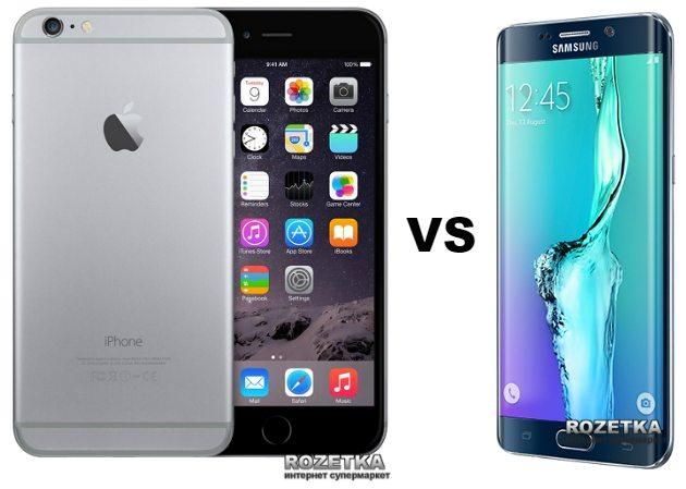 Сравнение смартфона Apple iPhone 6 Plus с Samsung Galaxy S6 Edge Plus - 1 фото
