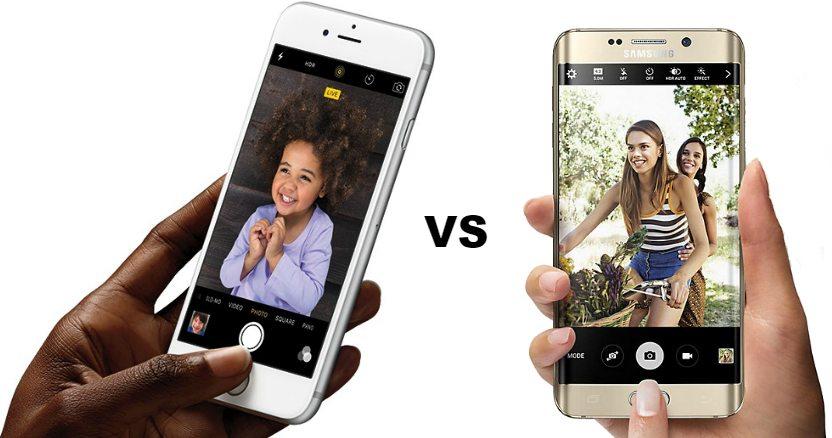 Сравнение смартфона Apple iPhone 6 Plus с Samsung Galaxy S6 Edge Plus - 2 фото