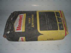 Момент - сухой клей для плитки и пенопласта